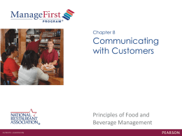 Chapter 8 Communicating with Customers