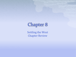 Chapter 8 Test Review - Brimley Area Schools