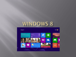 Windows 8x - CIIIWebSupport