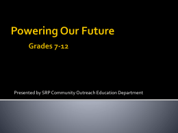 Powering Our Future Grades 4-6 and 6