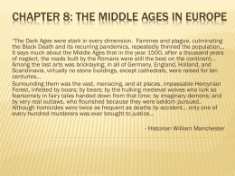 Chapter 8: The Middle Ages in Europe