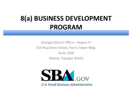 things to know about 8a – cdc - Georgia Tech Procurement