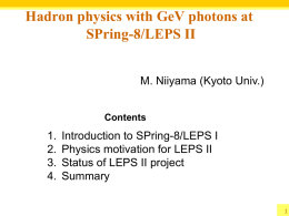 Hadron physics with GeV photons at SPring-8/LEPS II