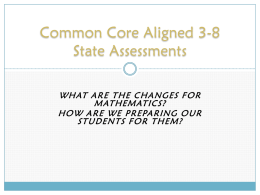 CCLS Aligned 3-8 State Assessments