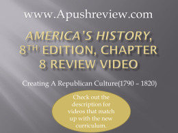 America`s History Chapter 8