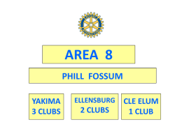Area 8 Review - Phill Fossum - Rotary District 5060 Training
