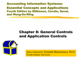 Accounting Information Systems: Essential Concepts and