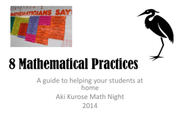 8 Mathematical Practices slideshow