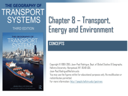 Chapter 8 Transportation, Energy and the Environment