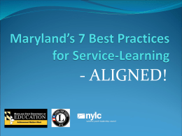 Maryland`s 7 Best Practices – Aligned!