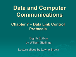 Chapter 7 - William Stallings, Data and Computer Communications