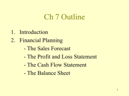 Ch 7 Outline