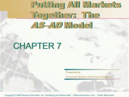 Putting All Markets Together: The AS–AD Model