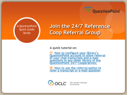 Join the 24/7 Reference Coop Referral Group