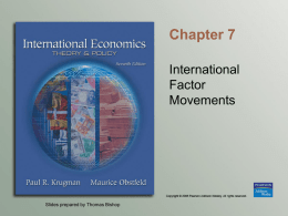 Chapter 7 International Factor Movements