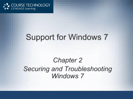 Support for Windows 7 - ITE technical support