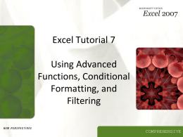 Excel Tutorial 7