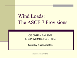 Wind Provisions - A Beginner`s Guide to Structural Engineering