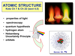 ATOMIC STRUCTURE Chapter 7