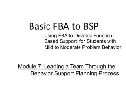Module 7: Implementing, Reviewing, and Modifying the BSP