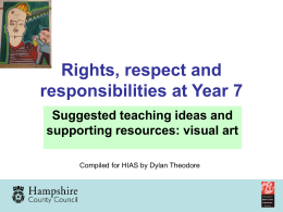 Rights Respect and Responsibility at Year 7