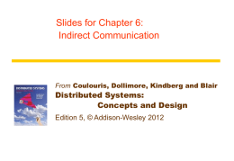 Chapter 6 - Distributed Systems | Concepts and Design, Fifth Edition