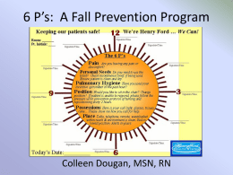 6 P*s: A Fall Prevention Program
