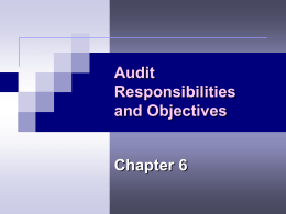 Chapter 6 – Audit Responsibilities and Objectives