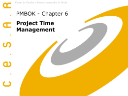 PMBOK - Charter 6 - Project Time Management