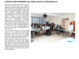 6 HEALTH CARE WORKERS from ASALs trained on MicroResearch