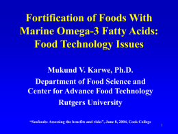 Fortification of Foods with Marine Omega-3 Fatty Acids
