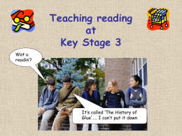 Teaching reading at Key Stage 3