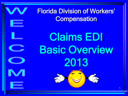 FL Claims EDI Release 3 Training