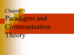 chapter 3 paradigms and communication theory