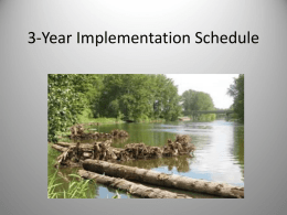 3 Year Implementation Schedule