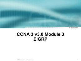CCNA 3 Module 3 Single-Area OSPF