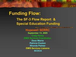The SF-3 Flow Report - mveca-home