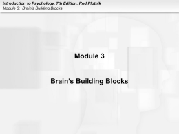 Introduction to Psychology, 7th Edition, Rod Plotnik Module 3
