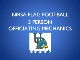 Flag Football 3 Person Officiating Mechanics