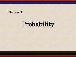 Chapter 3: Probability - Angelo State University