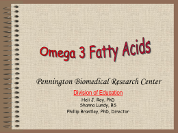 omega-3-fatty-acids - Pennington Biomedical Research Center