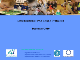 Dissemination of PSA Level 3 Evaluation