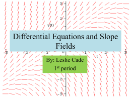 Differential Equations and Slopefields