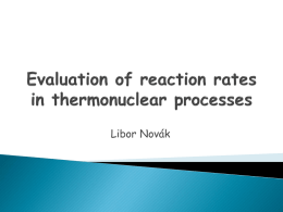 Evaluation of nuclear processes in plasmas