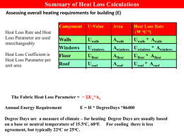 Revision Presentation on Heat Loss Calculation and Energy