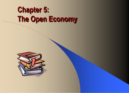 Chapter 8: The Open Economy