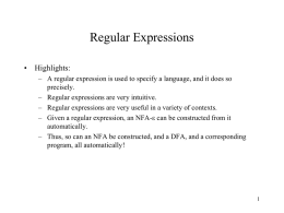 Regular Experssions