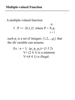 Multi-valued Logic Minimization