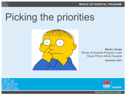 Picking the priorities - Emergency Care Institute