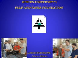 AUBURN UNIVERSITY`S PULP AND PAPER FOUNDATION